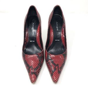 AMALFI 🐍 snakeskin print heels